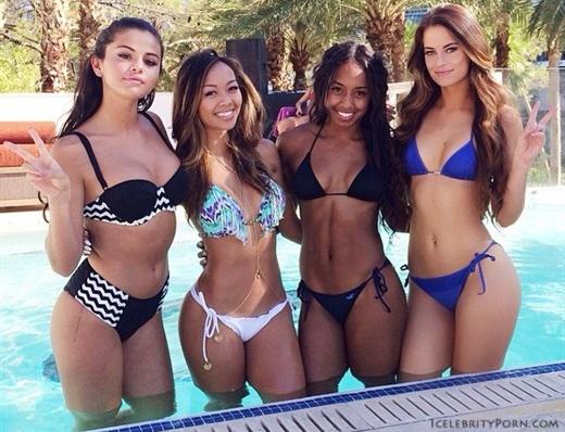 Gomez selena justin and bikini bieber