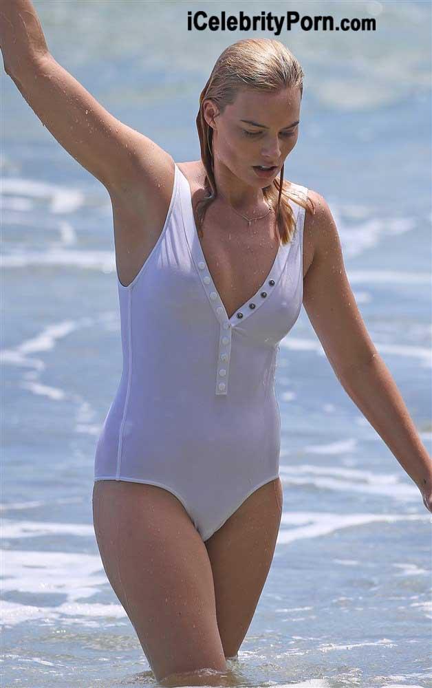 Margot Robbie en Bikini muy Sensual en la Playa -xxx-desnuda-escuadron-suicida-escenas-filtradas-detras-de-camara-porno-video (6)