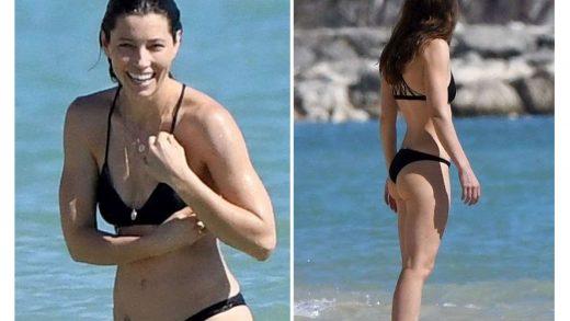 Jessica Biel desnuda fotos porno en la playa